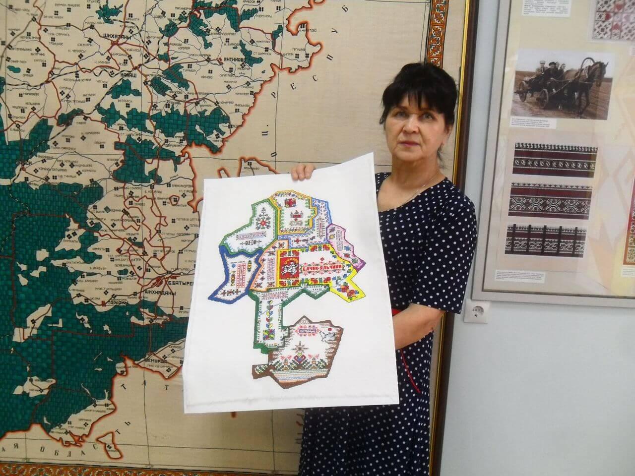 You are currently viewing Вышитая карта Яльчикского района